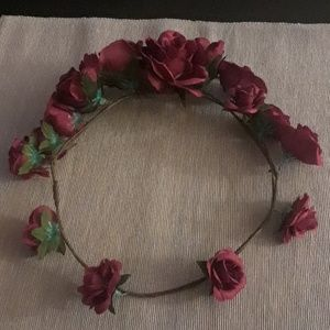 Boho flower crown, only worn once